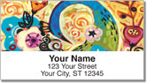 Peacock Art Address Labels