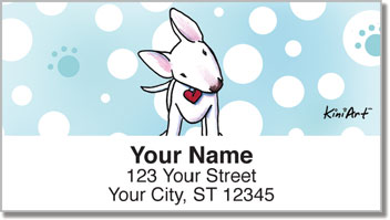Bull Terrier Series Address Labels