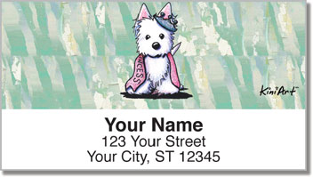Westie  Princess Address Labels