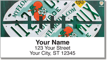 Florida License Plate Address Labels