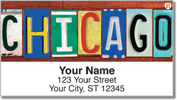 Illinois License Plate Address Labels
