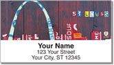 Missouri License Plate Address Labels