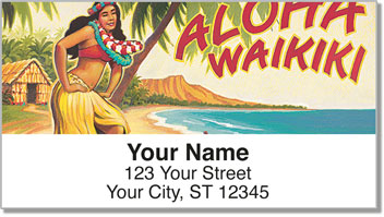 Hawaiian Art Address Labels