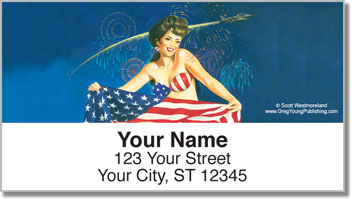 Pin Up Girl Address Labels