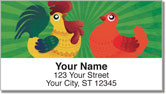 Cartoon Rooster Address Labels