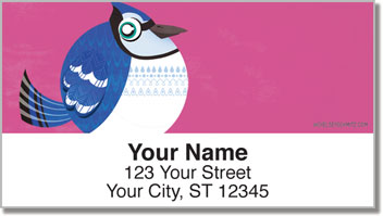 Round Bird Address Labels