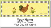 Country Rooster Address Labels