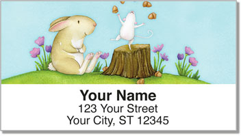 Mouse and Bunny Address Labels