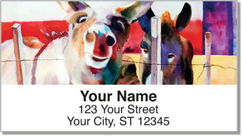 Kay Smith Donkey Address Labels