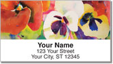 Kay Smith Pansies Address Labels