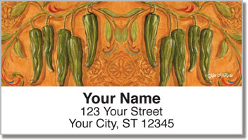 Santa Fe Chili Pepper Address Labels