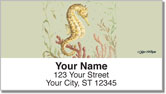 McRostie Seahorse Address Labels