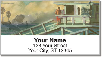 Surfing Journal Address Labels