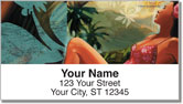 Tropical Girl Address Labels