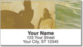 Tropical Shadow Box Address Labels