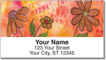 Rice Paper Flower Address Labels