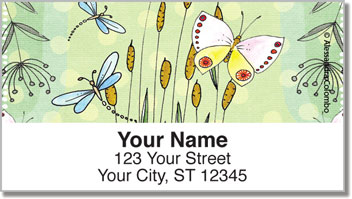 Spring Breeze Address Labels