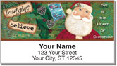 Folk Christmas Address Labels