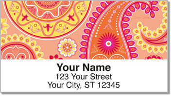 Boho Girl Address Labels