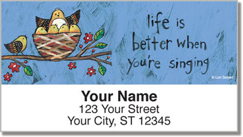 Folksy Charm Address Labels