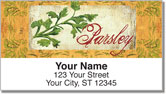 Vintage Herb Address Labels