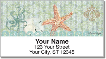 Boho Coastal Address Labels