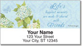Hydrangea Address Labels