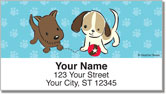 Naughty Puppy Address Labels
