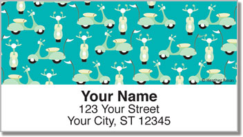Sporty Scooter Address Labels