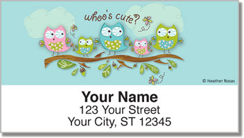 Whoo's Cute Address Labels