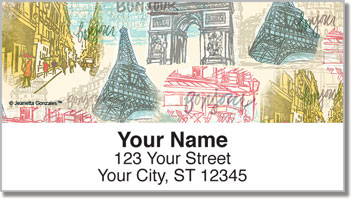 Paris Vacation Address Labels