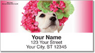 Pups in Bloom 1 Address Labels