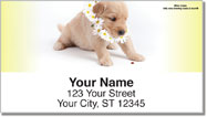Pups in Bloom 2 Address Labels