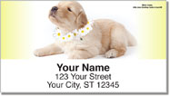 Pups in Bloom 3 Address Labels