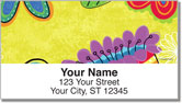 Fanciful Flower Address Labels