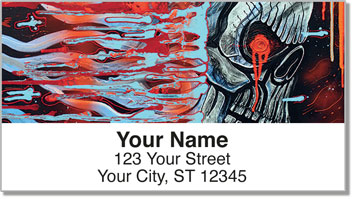 Cool Skull Address Labels