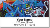 Skelly Cat Address Labels