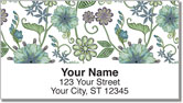 Vintage Nouveau Floral Address Labels