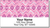 Patterned Peonies Address Labels