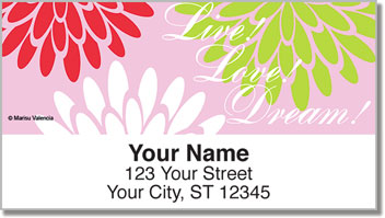 Mums in Bloom Address Labels