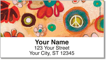Feelin' Groovy Address Labels