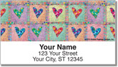 Patchwork Heart Address Labels