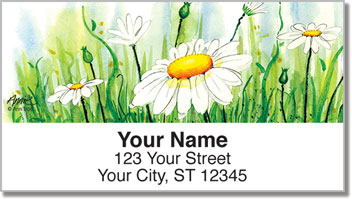 Daisy Field Address Labels