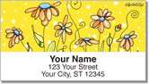 Orange Daisies Address Labels