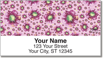 Violet Poppies Address Labels