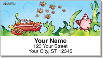 Wishy Fishy Friends Address Labels