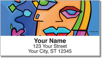 Cubist Gal Pal Address Labels