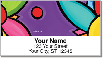 Floral and Fun Address Labels