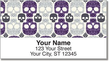 Damask Skull Address Labels