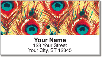 Feather Frenzy Address Labels
